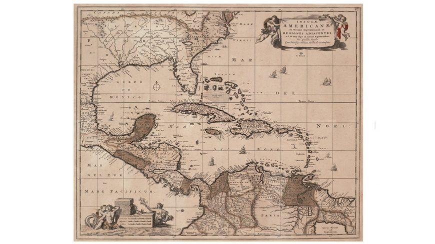 Insulae Americanae In Oceano C Mayusque Ad Lineam Aequinoctiale