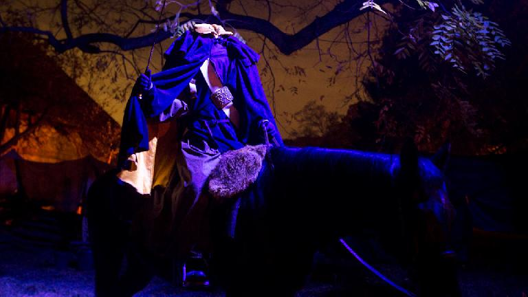 The Headless Horseman at Horseman's Hollow