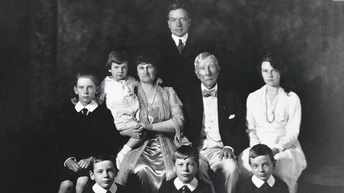 John D Rockefeller and His Family in About 1918