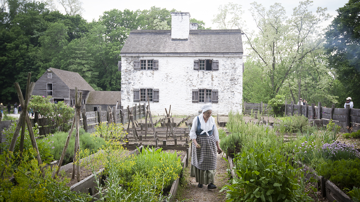 The garden at Philipsburg Manor